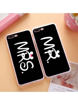 Mr. and Mrs. Couple Case For iPhone 5 5S 6 6Plus 6S 7 7Plus Soft TPU Clear Flexible Silicone