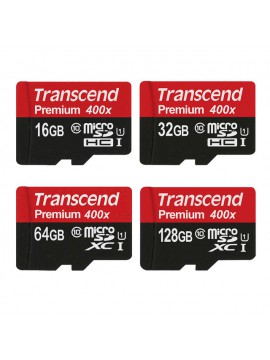 Transcend Micro SD Card 128GB 64GB 32GB 16GB High Speed 60MB/s UHS-I 400X