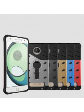 Moto Z Play 360 Bracket Shockproof Cover with Stand Phone Case