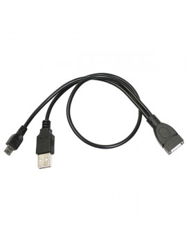 Micro USB Host OTG Cable With USB Plug Power Adapter