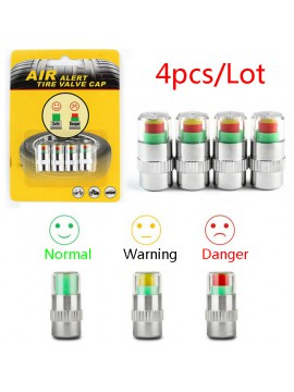 Auto Car Tire Pressure Monitor Valve Stem Caps Sensor Indicator Alert Diagnostic Tools Kits 4PCS
