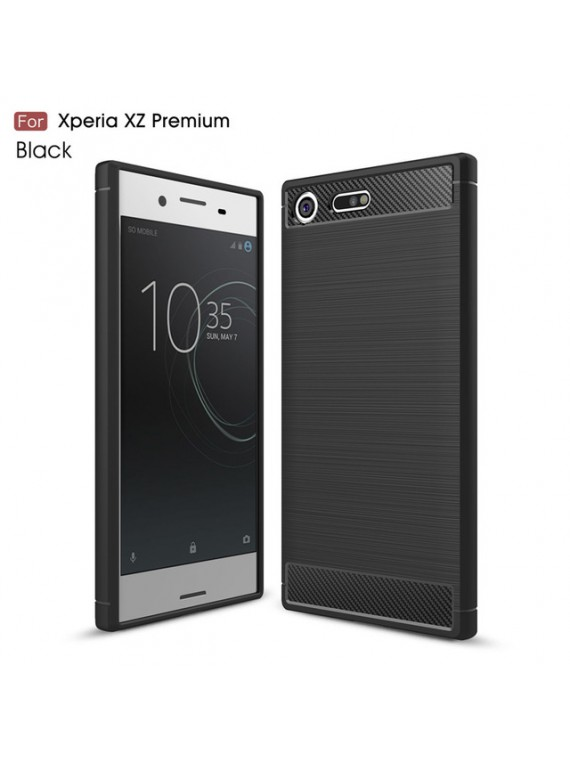 Sony Xperia Case Hybrid Super armor Carbon Fiber Texture Brushed Silicone