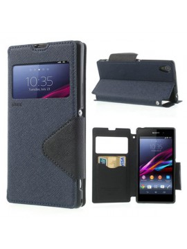 Sony Xperia Diary Leather View Window Flip Cover